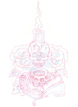 Skull_withRoses_andCandle_1